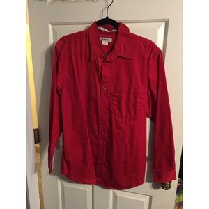 Other - Men's red button down shirt size S